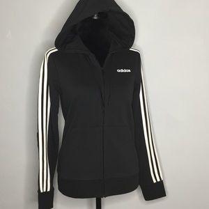 Adidas Iconic 3 Stripes Zip Up Hoodie Jacket NWT